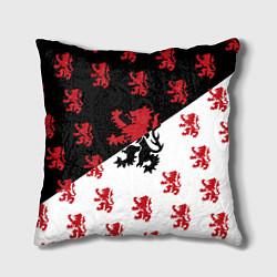 Подушка квадратная Лев герба Нидерландов цвета 3D-принт — фото 1