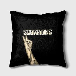Подушка квадратная Scorpions Rock цвета 3D — фото 1