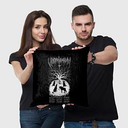 Подушка квадратная Wolves in the Throne Room цвета 3D-принт — фото 2