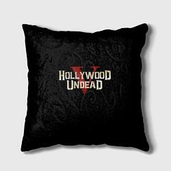 Подушка квадратная Hollywood Undead V цвета 3D-принт — фото 1