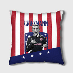 Подушка квадратная Griezmann: Atletico Star цвета 3D — фото 1