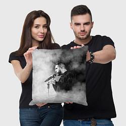 Подушка квадратная Jah Khalib: Black mist цвета 3D-принт — фото 2