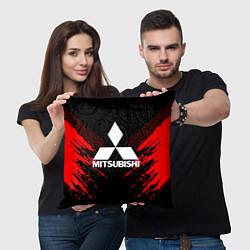 Подушка квадратная Mitsubishi: Red Anger цвета 3D-принт — фото 2