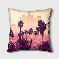 Подушка квадратная Los Angeles цвета 3D-принт — фото 1