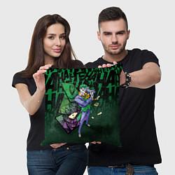 Подушка квадратная Joker Games цвета 3D-принт — фото 2