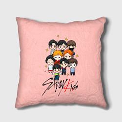 Подушка квадратная Stray Kids цвета 3D-принт — фото 1