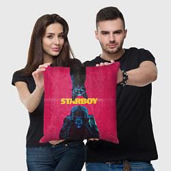 Подушка квадратная STARBOY цвета 3D-принт — фото 2