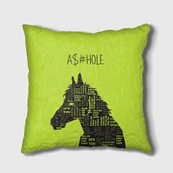 Подушка квадратная BoJack Horseman цвета 3D-принт — фото 1