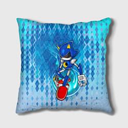 Подушка квадратная Metal Sonic цвета 3D-принт — фото 1