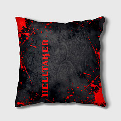 Подушка квадратная Helltaker Logo Z цвета 3D — фото 1