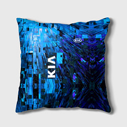 Подушка квадратная KIA цвета 3D-принт — фото 1