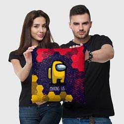 Подушка квадратная AMONG US АМОНГ АС цвета 3D — фото 2