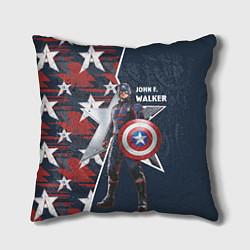 Подушка квадратная Marvel Капитан Америка цвета 3D-принт — фото 1