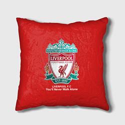 Подушка квадратная Liverpool цвета 3D-принт — фото 1
