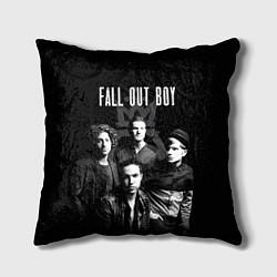 Подушка квадратная Fall out boy band цвета 3D-принт — фото 1