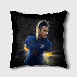 Подушка квадратная Neymar: Brasil Team цвета 3D-принт — фото 1