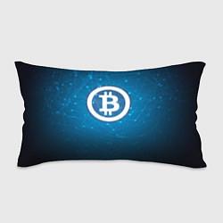 Подушка-антистресс Bitcoin Blue цвета 3D-принт — фото 1