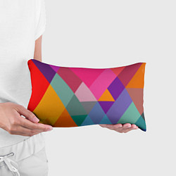 Подушка-антистресс Разноцветные полигоны цвета 3D — фото 2