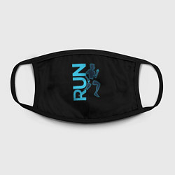 Маска для лица RUN: Black Style цвета 3D-принт — фото 2