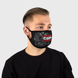 Маска для лица СВР: герб РФ цвета 3D — фото 1