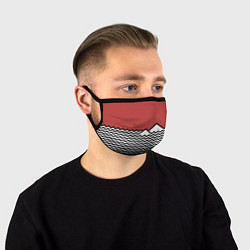 Маска для лица Горы Твин Пикс цвета 3D — фото 1
