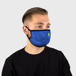 Маска для лица Сборная Швеции: Гостевая ЧМ-2018 цвета 3D-принт — фото 1