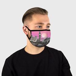 Маска для лица Закат в Великобритании цвета 3D-принт — фото 1