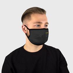 Маска для лица Настоящий охраник цвета 3D-принт — фото 1