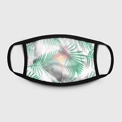 Маска для лица Фламинго в джунглях цвета 3D-принт — фото 2