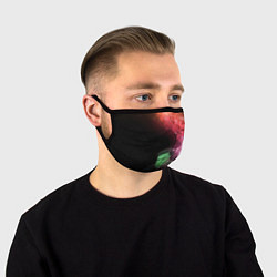 Маска для лица ПРИШЕЛЕЦ цвета 3D-принт — фото 1