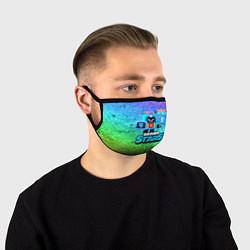 Маска для лица ЭШ Ash Brawl Stars цвета 3D-принт — фото 1