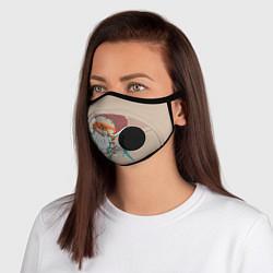 Неопреновая маска с клапаном с принтом Коронавирус covid 19, цвет: 3D-черный, артикул: 10247927505999 — фото 1