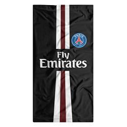 Бандана-труба PSG FC: Black 2018 цвета 3D-принт — фото 2