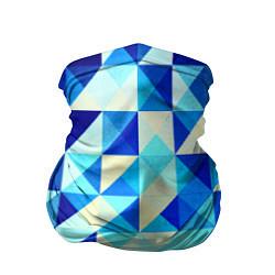 Бандана Синяя геометрия