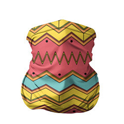 Бандана-труба Цветные зигзаги цвета 3D — фото 1