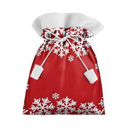 Мешок для подарков Снежинки цвета 3D — фото 1