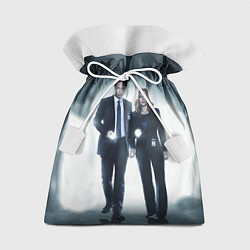 Мешок для подарков Малдер и Скалли цвета 3D — фото 1
