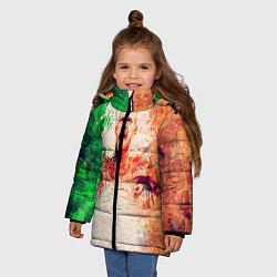 Детская зимняя куртка для девочки с принтом Conor McGregor: Ireland, цвет: 3D-черный, артикул: 10102373006065 — фото 2