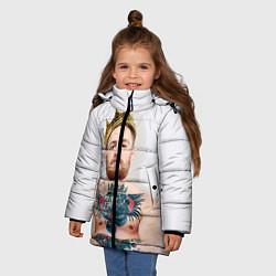 Куртка зимняя для девочки Макгрегор король цвета 3D-черный — фото 2
