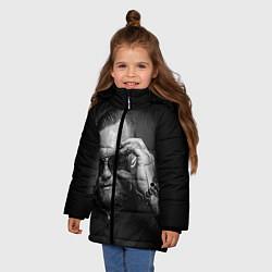 Куртка зимняя для девочки Стильный Макгрегор цвета 3D-черный — фото 2