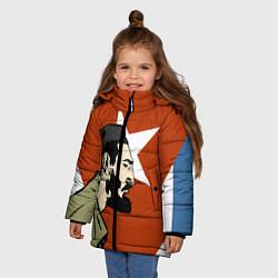 Куртка зимняя для девочки Куба цвета 3D-черный — фото 2