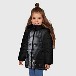 Куртка зимняя для девочки Vikings: Ladgerda цвета 3D-черный — фото 2