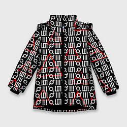 Куртка зимняя для девочки 30 STM: Symbol Pattern цвета 3D-черный — фото 1