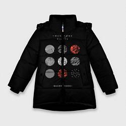 Куртка зимняя для девочки Twenty one pilots: Blurrveace цвета 3D-черный — фото 1
