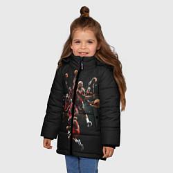 Куртка зимняя для девочки Michael Jordan Style цвета 3D-черный — фото 2