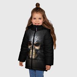 Куртка зимняя для девочки Скелет в маске цвета 3D-черный — фото 2