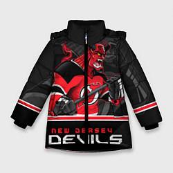 Куртка зимняя для девочки New Jersey Devils цвета 3D-черный — фото 1