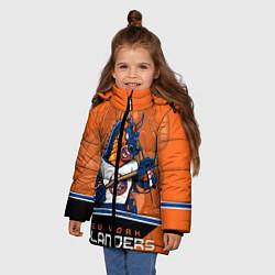 Куртка зимняя для девочки New York Islanders цвета 3D-черный — фото 2