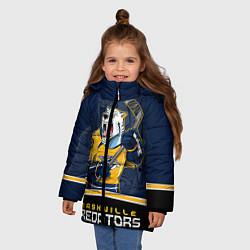 Детская зимняя куртка для девочки с принтом Nashville Predators, цвет: 3D-черный, артикул: 10106987306065 — фото 2