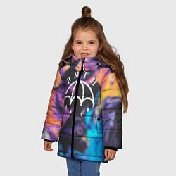 Куртка зимняя для девочки BMTH Rain цвета 3D-черный — фото 2
